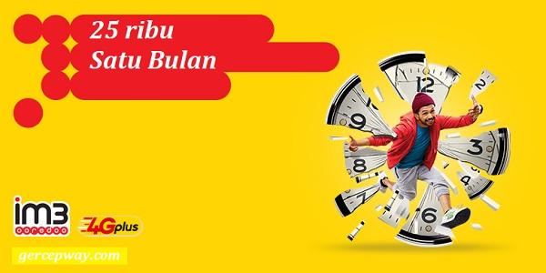 Cara Daftar Paket Internet Indosat 25rb Untuk Sebulan
