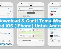 Cara Download & Ganti Tema WhatsApp Mod iOS (iPhone) Untuk Android
