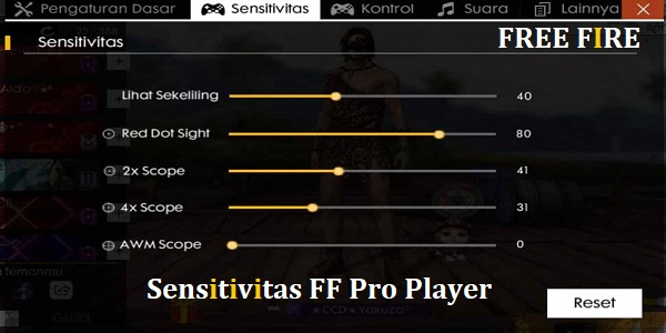 Sensitivitas FF Pro Player