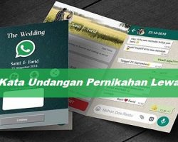 Kata-Kata Undangan Pernikahan Lewat WA