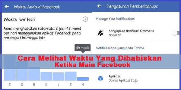 Cara Melihat Waktu Yang Dihabiskan Ketika Main Facebook