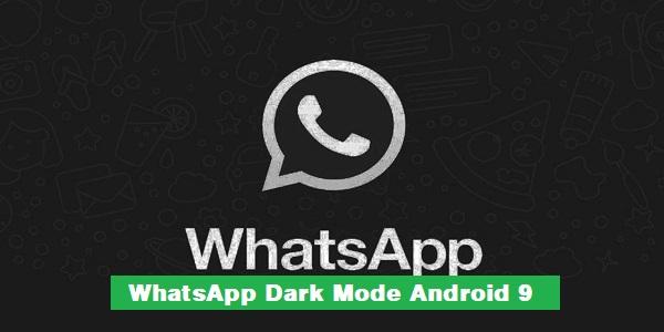 WhatsApp Dark Mode Android 9