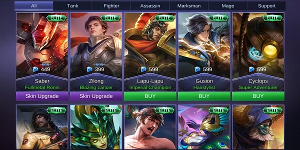 Cara Tukar Skin Mobile Legends