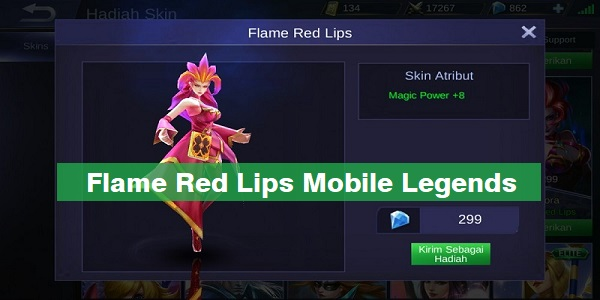 Flame Red Lips Mobile Legends