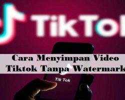 Cara Menyimpan Video Tiktok Tanpa Watermark