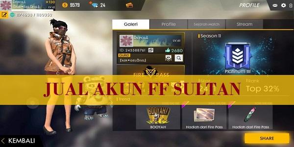 Jual Akun FF Sultan