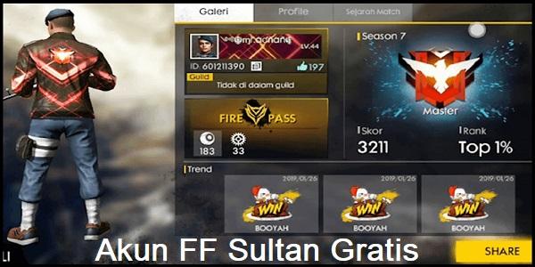 Akun FF Sultan Gratis 2020 Asli FB
