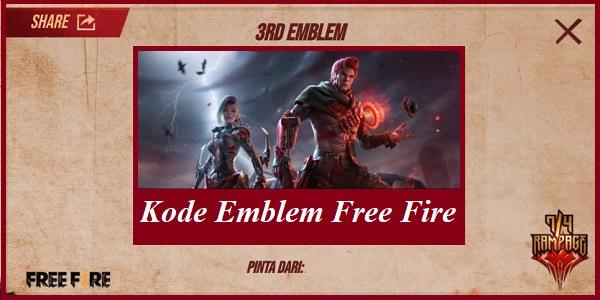 Kode Emblem Free Fire