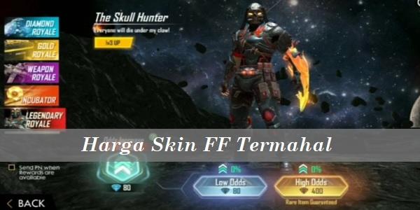 Harga Skin FF Termahal