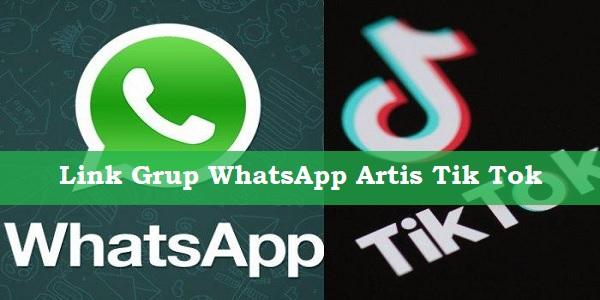 Link Grup WhatsApp Artis Tik Tok