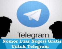 Nomor Luar Negeri Gratis Untuk Telegram